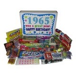 50th Birthday Gift Basket Box Retro Nostalgic Candy
