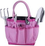 Bond 6930 Pink 5 Piece Garden Tool Bag Gift Set