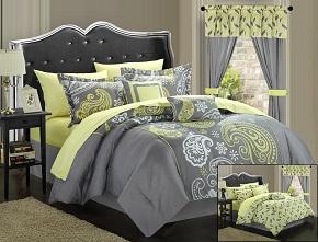 Chic Home 20-Piece Olivia Paisley Print Reversible Comforter Set
