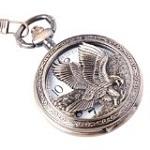 Eagle Design Pocket Watch Half Hunter Vintage Design PW-65