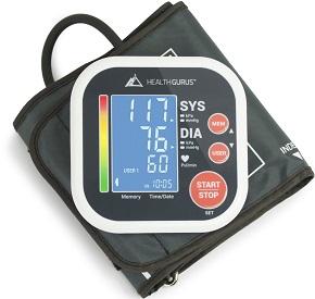 Health Gurus Professional Upper Arm Blood Pressure Monitor
