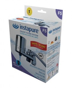 InstaPure F5BCC3P-1ES Faucet Mount Water Filter System