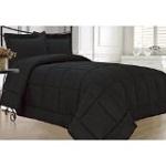 KingLinen Black Down Alternative Comforter Set Twin