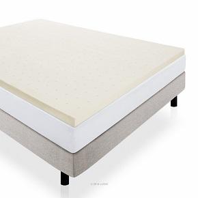 LUCID LinenSpa 2-Inch Ventilated Memory Foam Mattress Topper