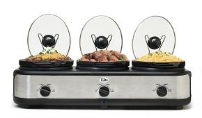 MaxiMatic EWMST-325 Elite Platinum Triple Slow Cooker