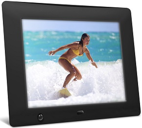 NIX 8-inch Digital Photo Frame with Motion Sensor