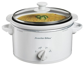 Proctor Silex 33116Y Portable Oval Slow Cooker