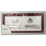 Stephan Baby Satin-Lined Rosewood Keepsake Box with Silver Plated Birth Certificate Holder