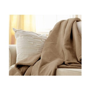 Sunbeam Microplush Throw Camelot Cuddler Electric Heated Warming Blanket