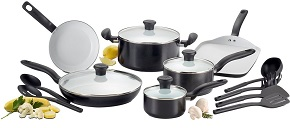 T-fal C921SG Initiatives Ceramic Nonstick Cookware Set, 16-Piece