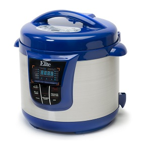 MaxiMatic EPC-808BL Elite Platinum Digital Stainless Steel Pressure Cooker with 13 Functions