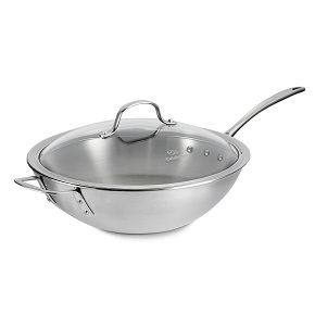 Calphalon Triply Stainless Steel 12-Inch Stir Fry with Cover