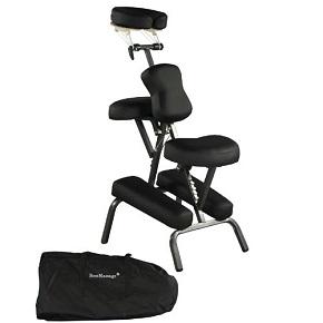 """Premium BestMassage Black 4"""" Portable Massage Chair"""
