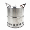 EIALA Portable Stainless Steel Wood Burning Camping Stove