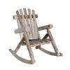 Lakeland Mills Cedar Log Rocking Chair