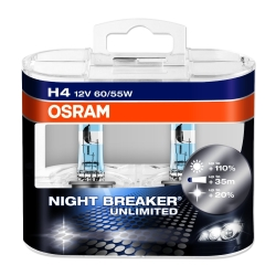 OSRAM - Night Breaker Unlimited H4 Super White Halogen