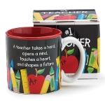 #1 Teacher 13 oz Coffee Mug