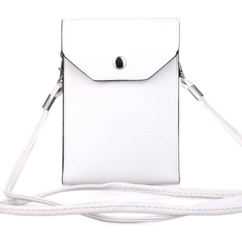 white cloud pu leather pouch