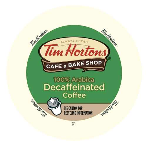 Tim Horton's Single Serve Coffee Cups Decaffeinated